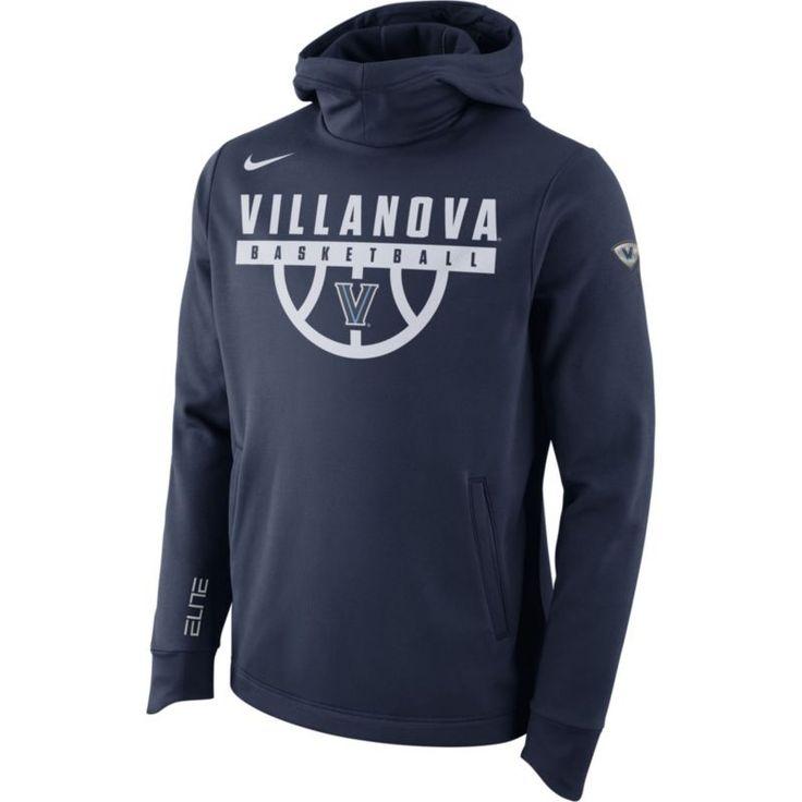 Nike Men's Villanova Wildcats Navy (Blue) Basketball Performance Elite Therma-FIT Hoodie, Size: XXL
