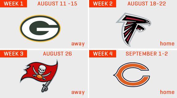 Browns announce 2016 preseason schedule. 4/7/2016