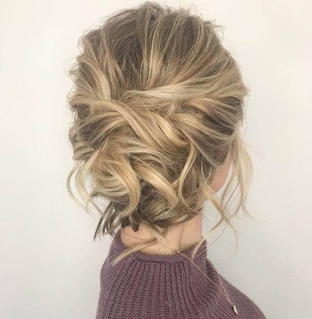 50 coiffures chignon chic désordonné
