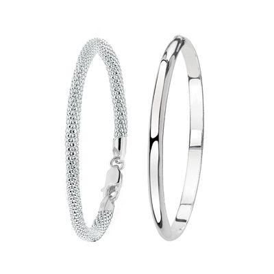 Zilveren set met twee armbanden (1031414)