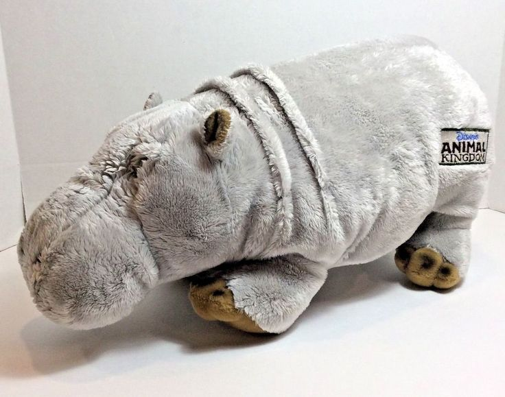 "Animal Kingdom Hippo Plush Stuffed Animal 15"" Disney Toy"