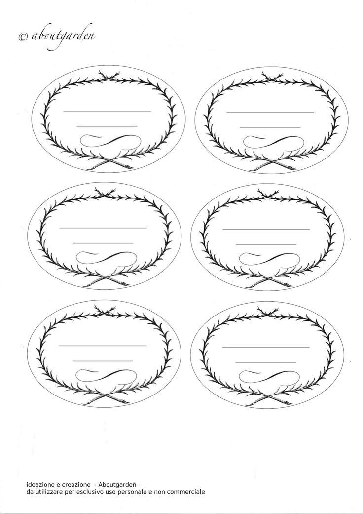 Oltre 25 fantastiche idee su etichette barattoli su - Modelli di ghirlanda stampabili ...