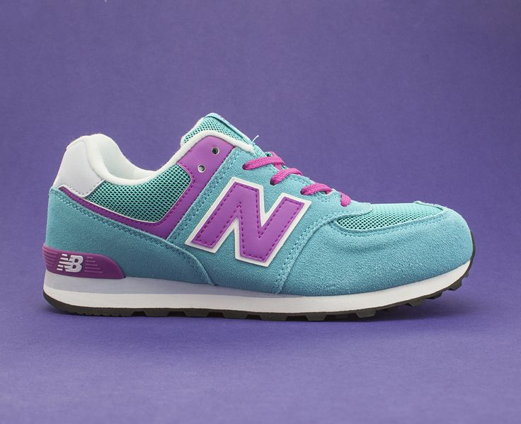 What's purple and pink and blue all over? The New Balance 574, that's what.