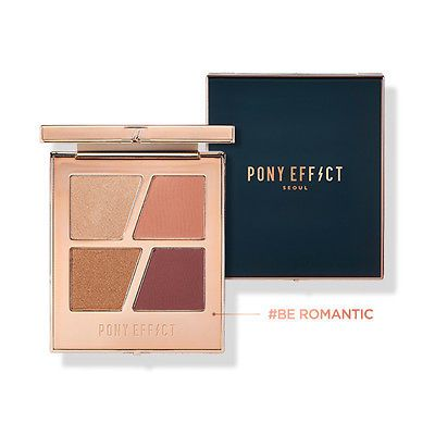 Pony Effect Conceptual Eyes Quad Eye Shadow Be Romantic Coral Gold 4 Colors