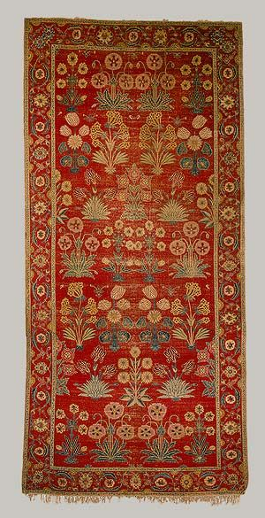 Indian rug, Pakistan Kashmir or Lahore, Mughal ca 1650