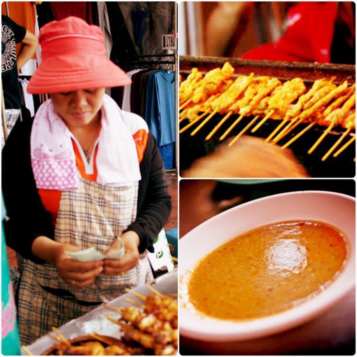 Chicken Satay collage