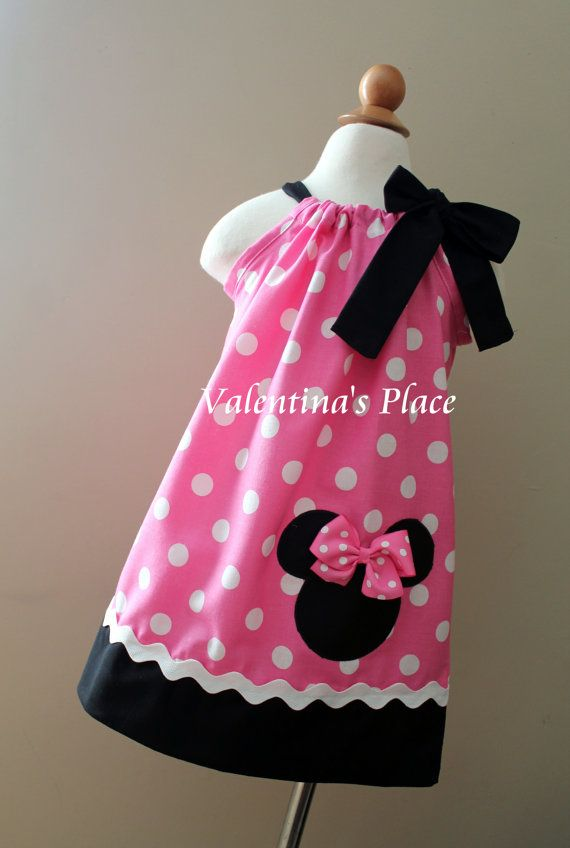 Beautiful Minnie Mouse in pink pillowcase dress. on Etsy, $28.00