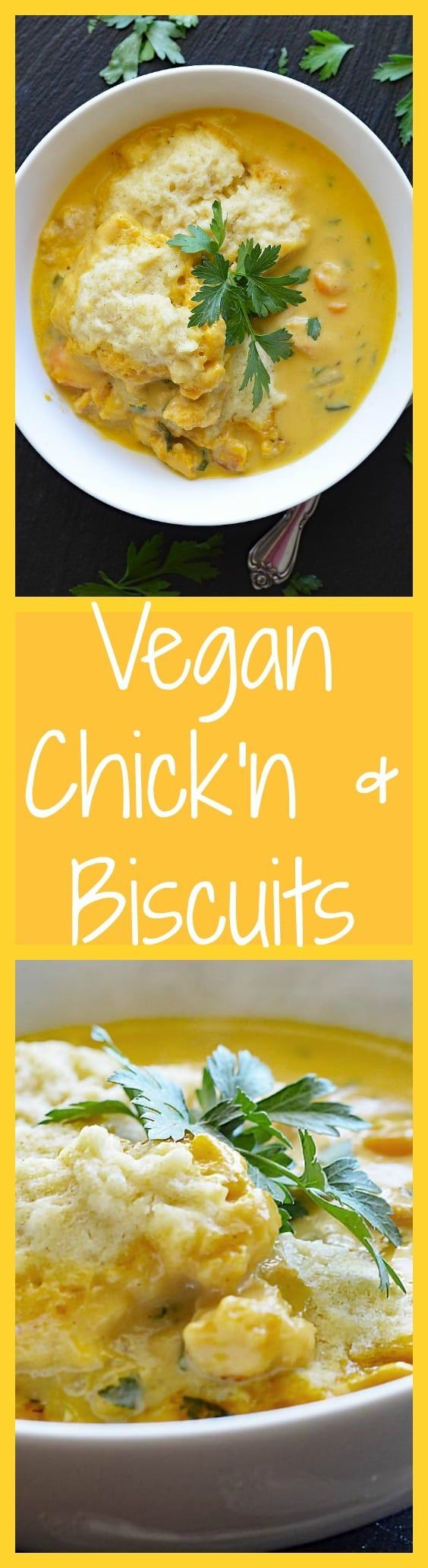 My grandma didn't cook often, but she had a few recipes in her arsenal that us grandkids just loved and in my pre-veggie days, this was one of them. Finally, I can enjoy Vegan Chicken and Biscuits (and you can too!).  This dish was so flavorful, I really hope you give it a try :) Get the recipe here, only at THE VEG LIFE! ---> http://theveglife.com/vegan-chicken-biscuits/