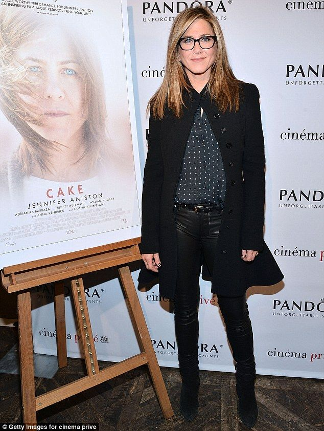 Jennifer Aniston, who is receiving Oscar buzz for her serious role in Cake