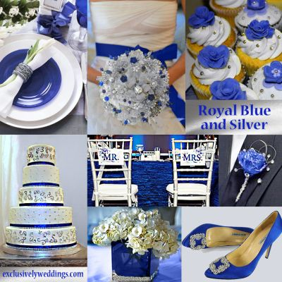 Royal Blue and Silver Wedding // YESSSS I LOVE THESE COLORS