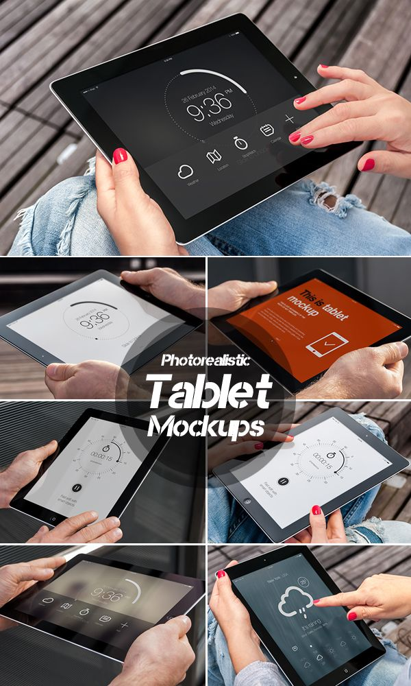 Photorealistic Tablet Mockups #premiummockup #presentationmockups #brandingmockup #businesscardsmockup #mockuptemplates #tshirtmockup #flyermockup #tabletmockup