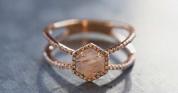 Moonstone, rose gold, small diamonds. It's like they read my mind.