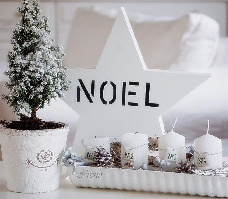Eine alte Backform als Adventsgesteck..white Christmas