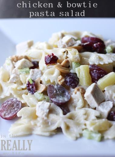 chicken & bowtie pasta salad