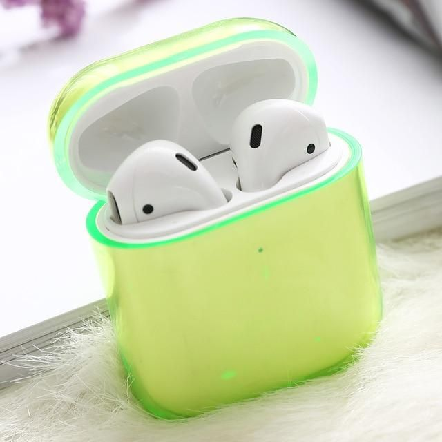 Clear Fluorescent Airpods Case Airpodstylist Airpod Case Air Pods Earphone Case