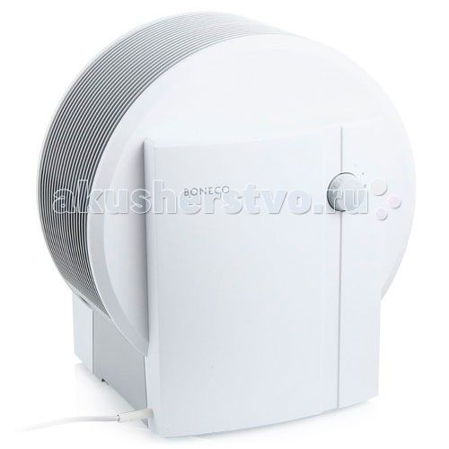 Boneco Увлажнитель-очиститель Мойка воздуха Air-O-Swiss W1355A  Boneco W1355A представляет собой комбинированный прибор (воздухоочиститель + увлажнитель) для естественного «промывания» воздуха, антибактериальной защиты и устранения аллергенов. Оригинальная конструкция не требует специальных фильтров, а элегантный дизайн гармонично вписывается в интерьер любого помещения.  Конструкция Мойка воздуха состоит из резервуара для воды, набора увлажняющих дисков, двухшагового переключателя, базы и…