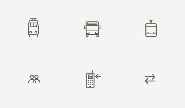 Transport pictograms by iconwerk, via Flickr