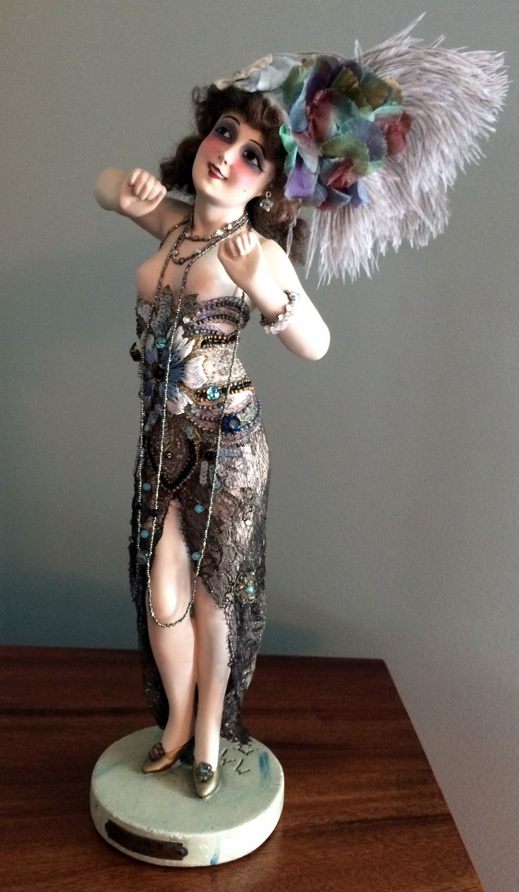 """Painted plaster doll, titled, """"Souris,"""" 14 5/8 inches tall. Signed, """"Maurice Milliere."""""""