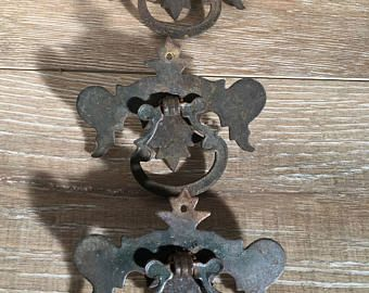 Chippendale Drawer Pulls, Antique Drawer Pulls, Brass Drawer Pulls, Vintage Drawer Pulls, Antique Hardware, French Country Hardware