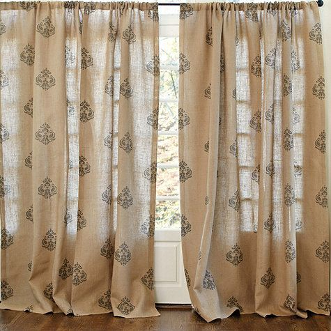 How to stencil curtains (learn from my mistakes)