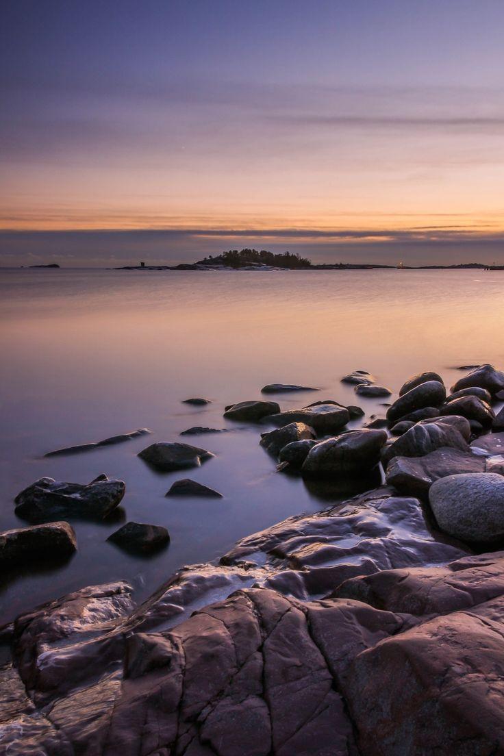 Freezing point - Again beautiful sunset on Hanko beach.
