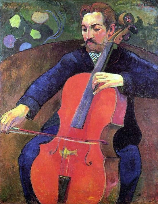 Paul Gauguin ~ The Cellist (Portrait of Upaupa Sckneklud), 1894