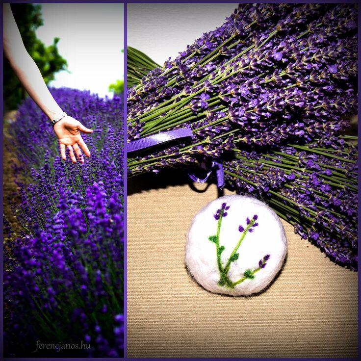 Lavender felted soap