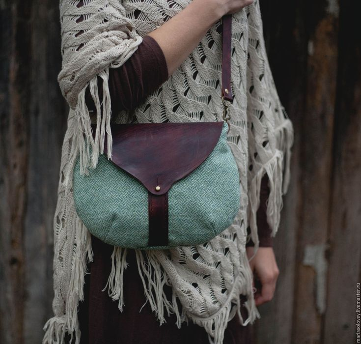 Купить Маленькая сумочка для прогулок. Текстиль+кожа - маленькая сумочка, сумочка, маленькая сумка, сумочка из кожи