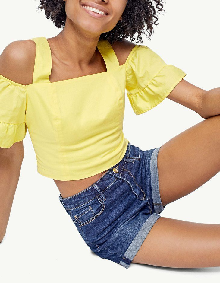 At Stradivarius you'll find 1 Super high waist denim shorts for just 2970 Japan . Visit now to discover this and more Trousers.