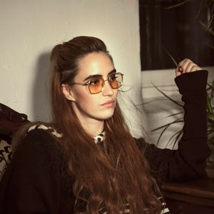 INGRID HELENE HÅVIK Wearing BLURRED VISION with tinted lenses - coming for SS16.