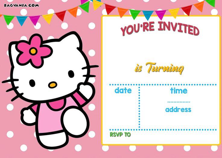 Download Now FREE Hello Kitty Invitation Templates