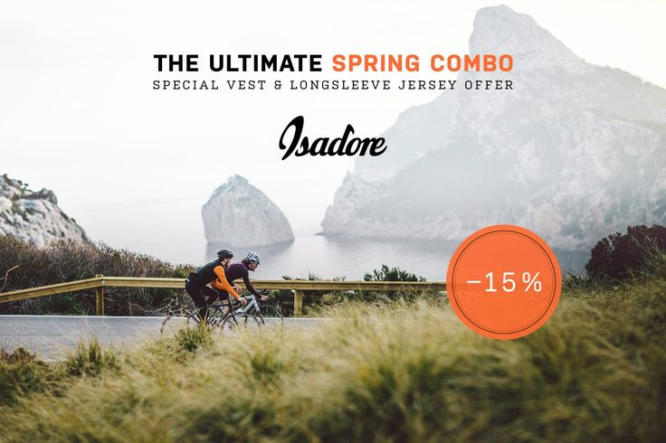 Isadore Apparel - Spring weather can be challenging. Sunny mornings and late afternoons can be cool and if you you do not come prepared you might get caught off-guard in cold winds. This is why we have created THE ULTIMATE SPRING COMBO offer at a special reduced discount. #isadoreapparel #roadisthewayoflife #cyclingmemories