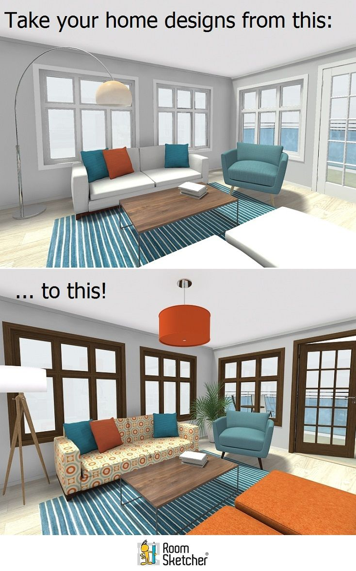 Interior design for our home - Customize The Look And Feel Of Your Home Designs In Roomsketcher Home Designer With Our Replace