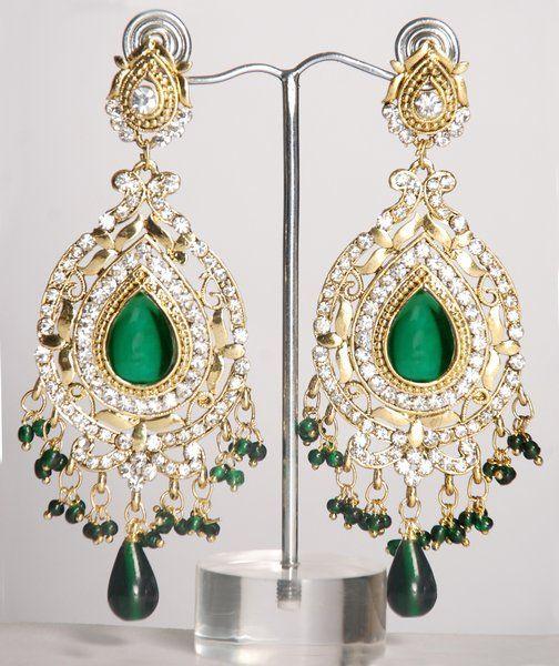 Heavy indian earrings