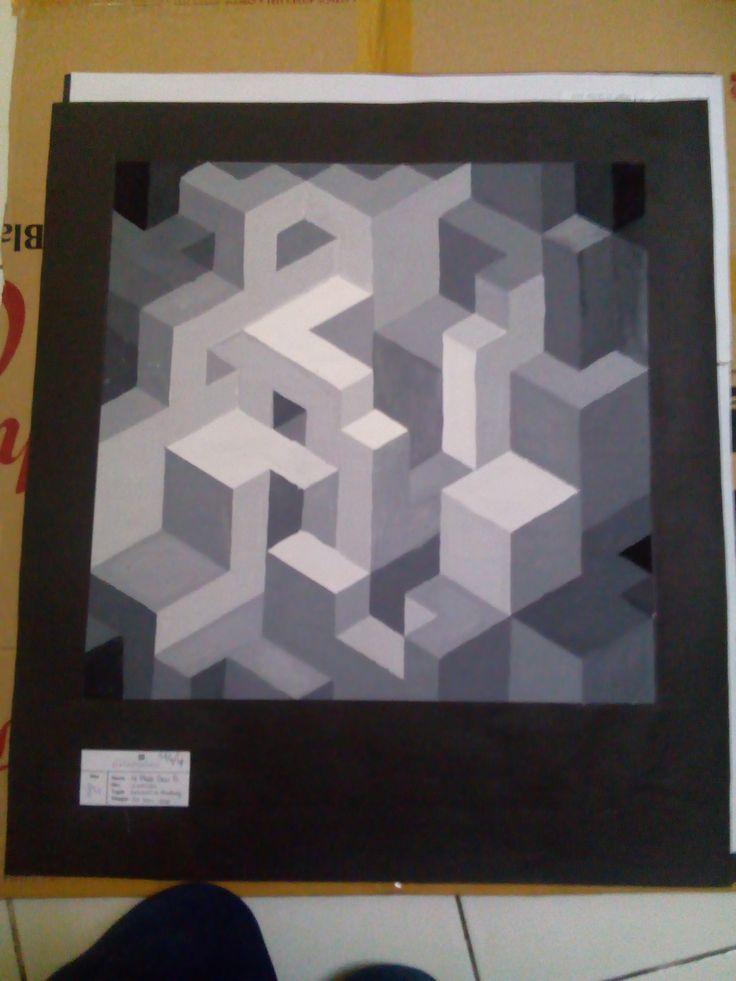 NIRMANA 2D | perspective, color gradation, bloks