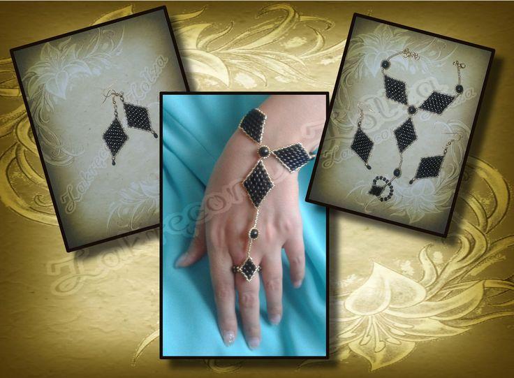 komplet kolczyki i bransoletka /  a set of earrings and bracelet