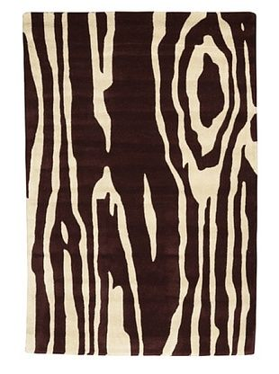 Kavi Handwoven Rugs Contemporary Rug, Burgundy/Ivory, 4' x 6'