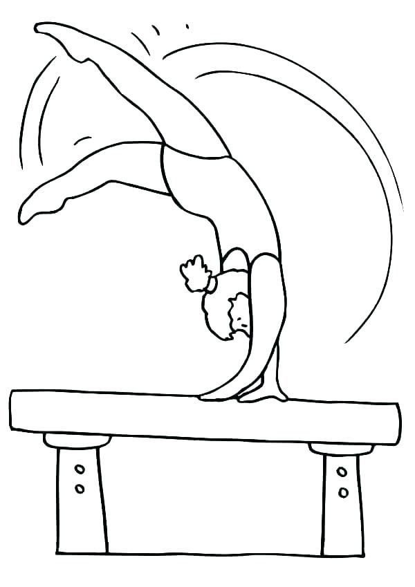 Gymnastic Coloring Pages Sports Coloring Pages Cute Coloring Pages Online Coloring Pages