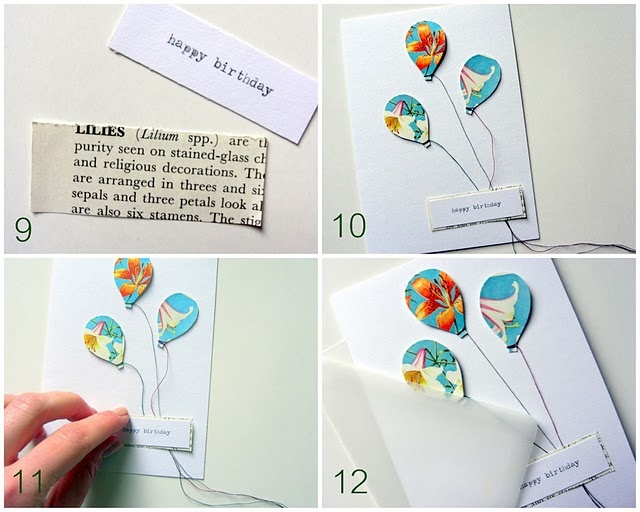 Invitation card with ballons
