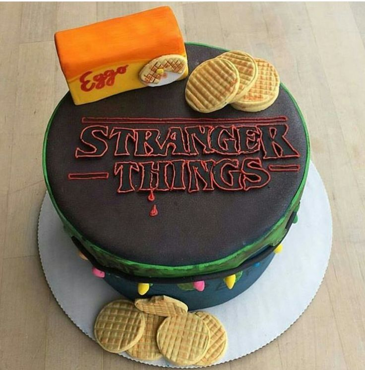 Stranger Things cake. My daughter wants this cake for her 14th birthday. I better start looking now