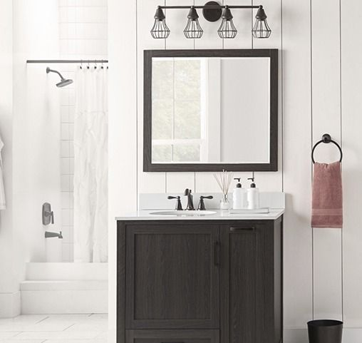 Lowes Bathroom Design Ideas amazing design ideas 9 lowes bathroom Give Your Bath A Fresh Modern Update With Vertical Shiplap Thats Easy To Diy