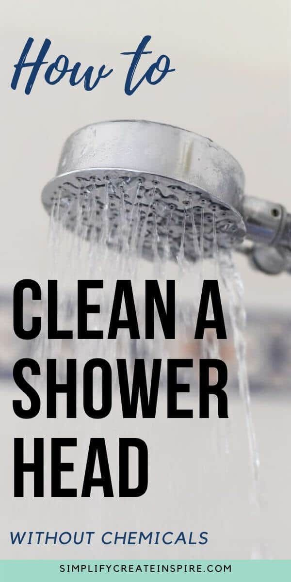 How To Clean Descale A Shower Head Shower Heads Cleaning Faucets Shower Cleaner