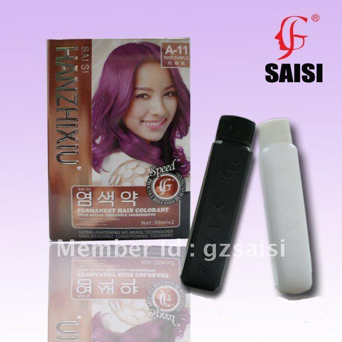 보라색 장미-30mlx2 permanet 머리 색 염료 야채 성분 25 색