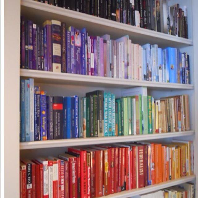 Rainbow Book Shelves Home Organization Pinterest