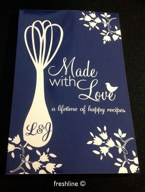 Custom Recipe Book  great idea for bridal shower gift, wedding gift, shower gift, baby shower, housewarming