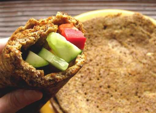 Easy Flaxseed Wrap http://andreadrugay.wordpress.com/2012/05/18/easy-flaxseed-wrap-gluten-free/