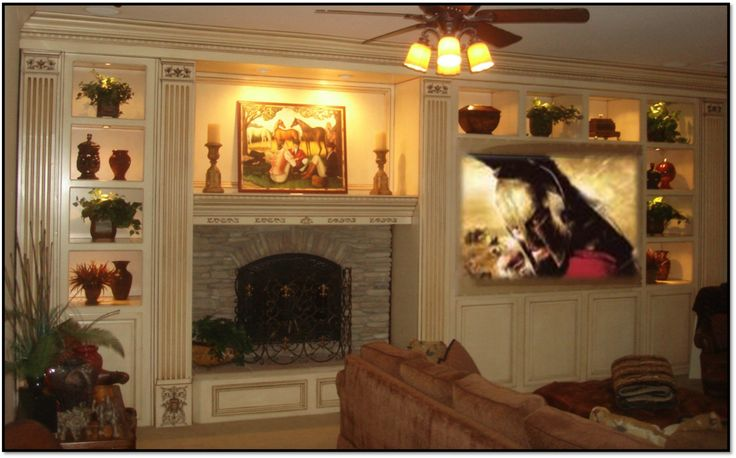 custom entertainment centers with fireplace | Fireplace Entertainment Center – Classic 7