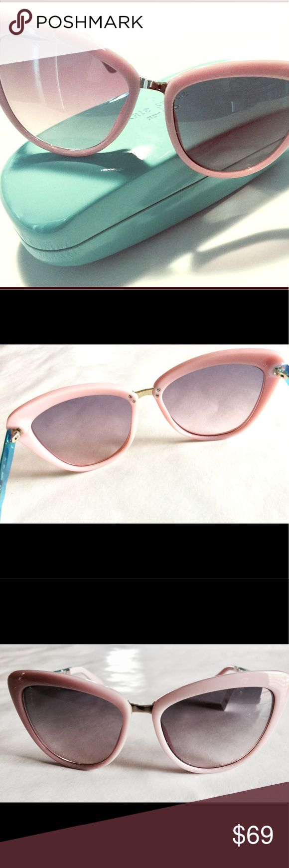 NEW Kate Spade Cat Eye (Cissy) Sunglasses NWT Brand new ✨ Kate Spade Cissy cat eye frames. Frames are the popular light pink or blush color with gold tone side arms and bridge. Great accessory to complete your spring and summer styles. Never worn, still in packaging with protective film on arms, tags, and original tiffany blue case. Smoke free and pet free home. ✨Happy to consider reasonable offers, so please don't hesitate to make an offer.✨ Note, color may vary due to screen resolutions…