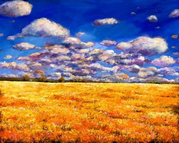 Fields of Gold - Painting - Johnathan Harris