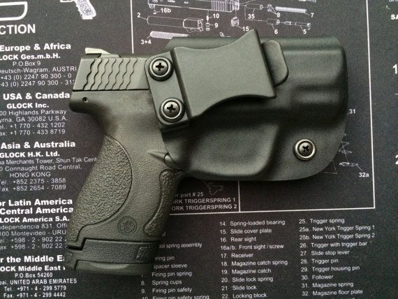 M&P Shield Smith and Wesson 40/9mm Custom Kydex Holster / IWB / Concealed Carry / Right Handed - BLACK / M P